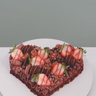 Brownie de coração